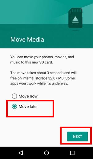 choose to use micro SD card as portable storage in Android Marshmallow