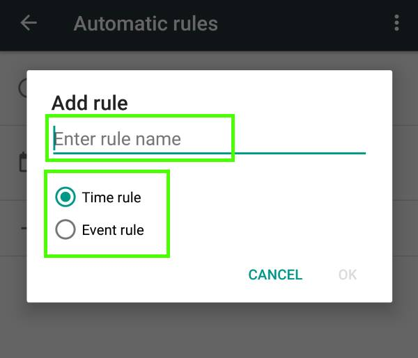 create automatic rules for Do not Disturb in Android Marshmallow