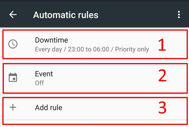 configure downtime for Do not Disturb in Android Marshmallow