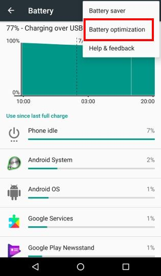 How to use Android Marshmallow battery optimization