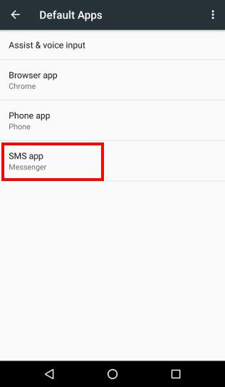 manage, use and reset default apps in Android Marshmallow