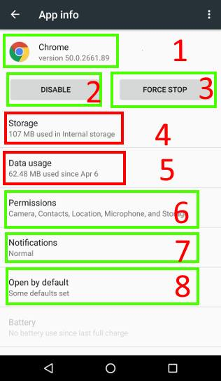 use application manager in Android Marshmallow