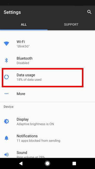 How to enable or disable data saver in Android Nougat?