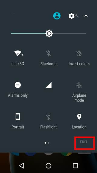 customize quick settings panel in Android Nougat
