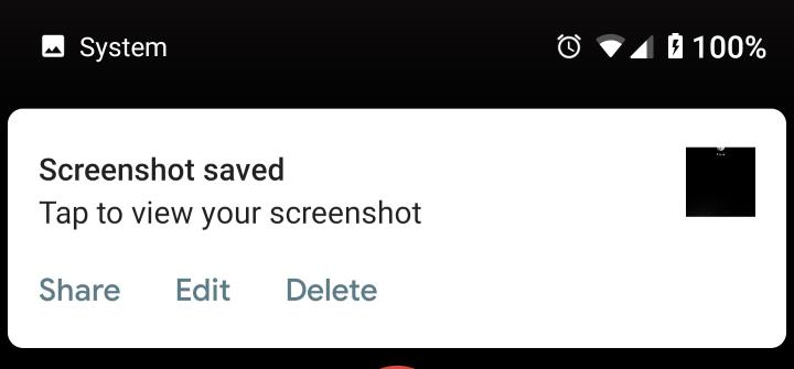 usethe screenshot shortcut to take a screenshot on Android Pie