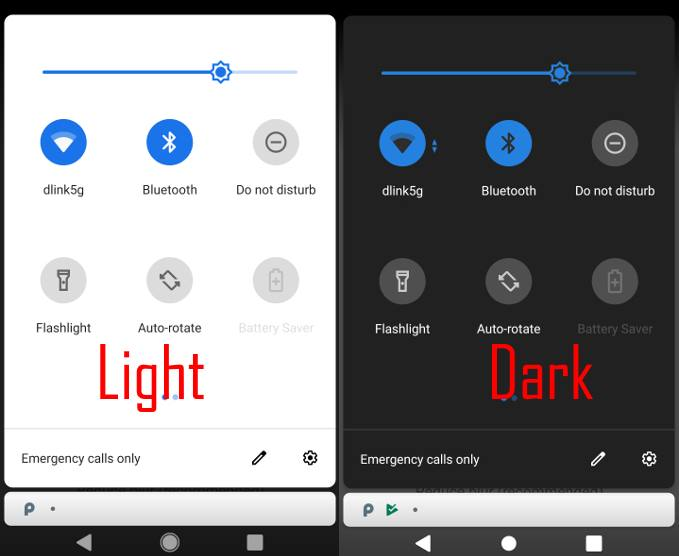 enable and use Android Pie dark mode (dark theme)