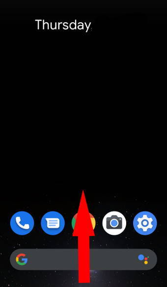 Android 10 Home screen