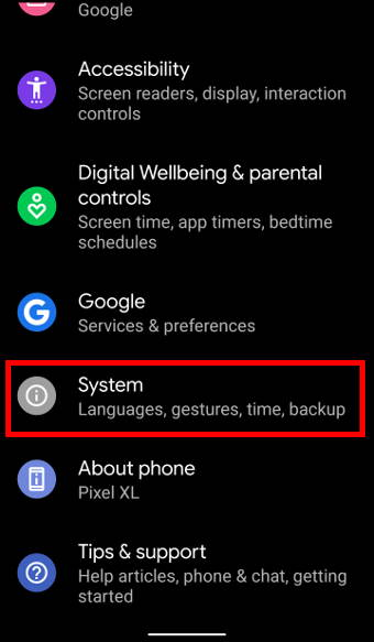 Android 10 Settings