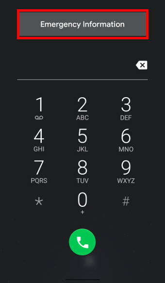 Emergency call page