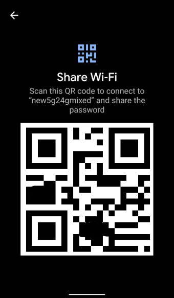 QR code example Share WiFi through QR code in Android 10