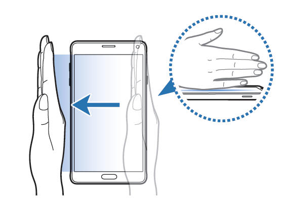 Palm swipe to take a screenshot on Galaxy S6