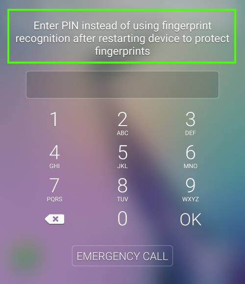You cannot use fingerprint to unlock Galaxy S6 after a reboot