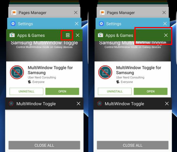 heck whether multi window is disabled or enabled in Galaxy S6, S6 edge and S6 edge+