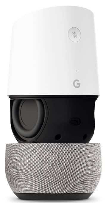 Google Home layout: changeable base