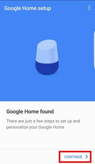 set up Google Home with Google Home app