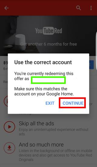 check and claim Google Home promotional offers
