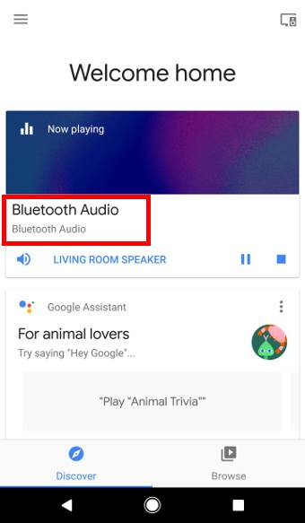 How to use Google Home as a Bluetooth speaker?