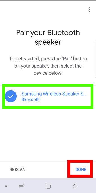 connect Google Home to a Bluetooth speaker