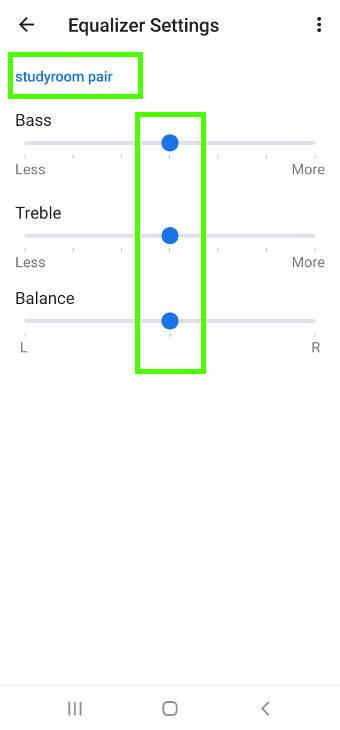 manage speaker pair settings