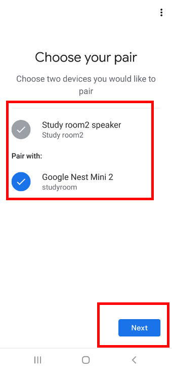select two Google Home speakers