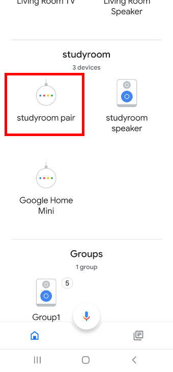 speaker pair in the Google Home app