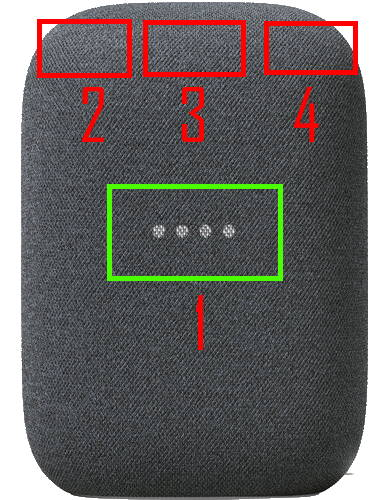 Nest Audio layout: front view