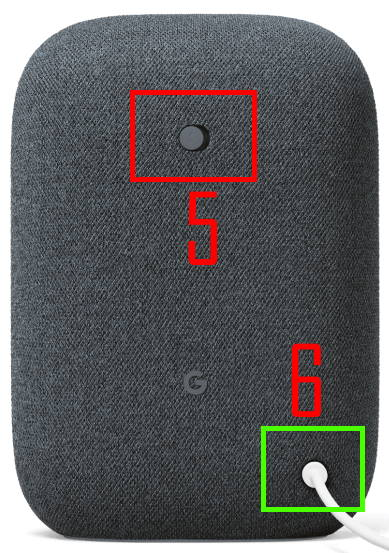 Nest Audio layout: rear view