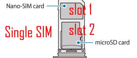 use the two slots in the SIM card tray