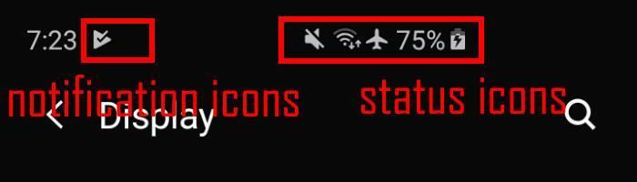 Galaxy S10 status bar