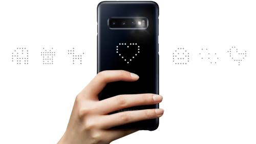 use Picture cue and camera timer of Galaxy S10 LED cover