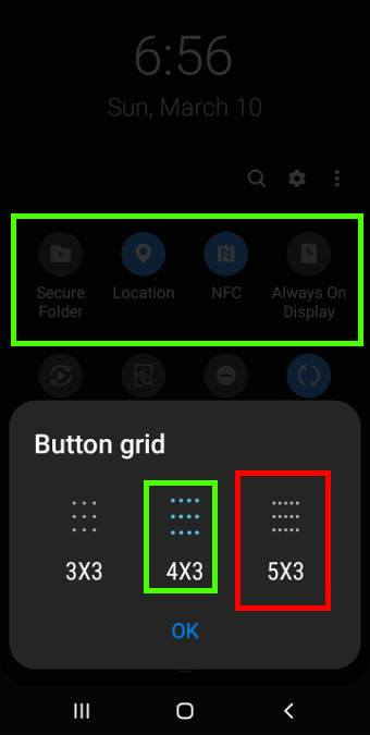 use button grid to arrange buttons