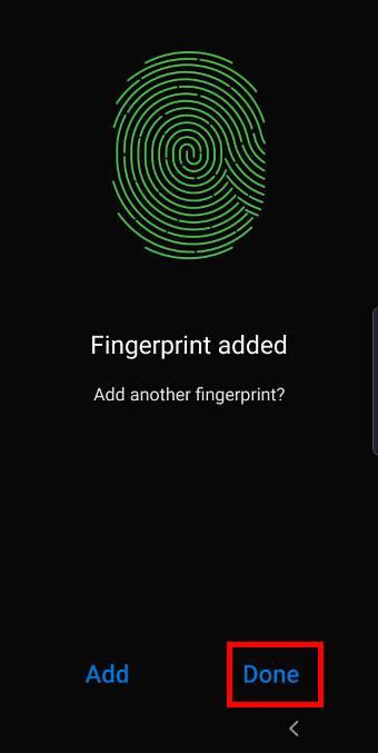 register fingerprints for the fingerprinter reader on Galaxy S10