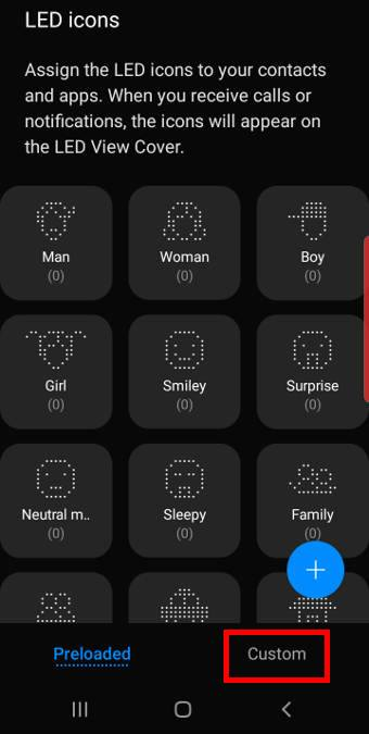 customize LED icons for contacts and apps for the Galaxy S10 LED View Cover (LED Wallet Cover)