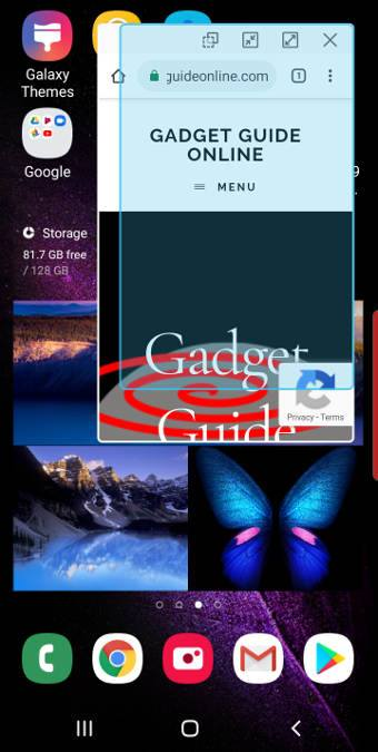 use the pop-up view of Galaxy S10 Multi Window