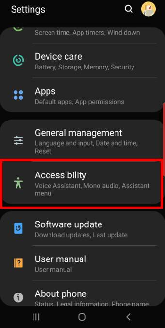 Use the Assistant menu to take screenshots on Galaxy S10