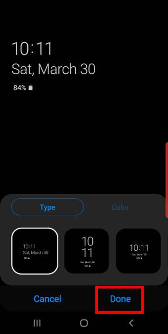 customize Galaxy S10 Always On Display (AOD)
