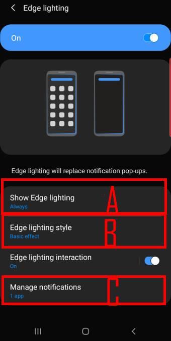use and customize edge lighting