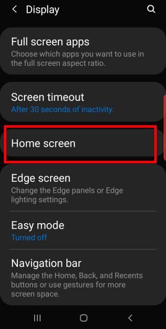 Galaxy S10 display settings