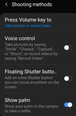 use 5 shooting methods for Galaxy S10 camera
