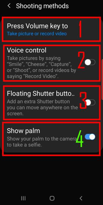 use different shooting methods for Galaxy S10 camera