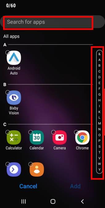 create an app folder