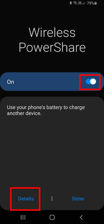 An alternative way to set battery limit for Wireless PowerShare on Galaxy S20