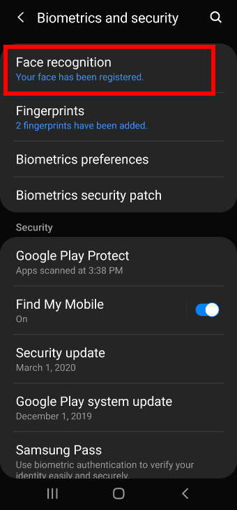 unlock Galaxy S20 to Home screen directly (without swiping on Galaxy S20 lock screen) with face recognition