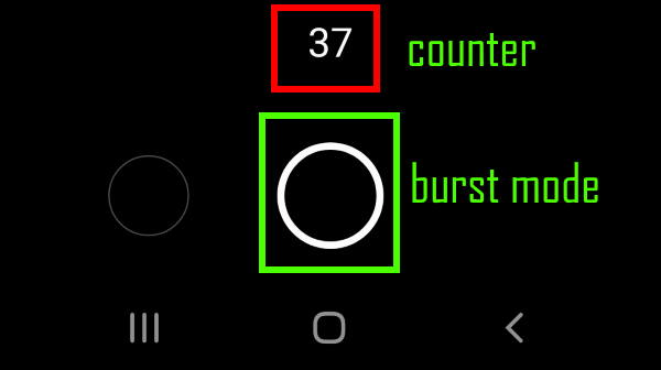 take burst shot photos with Galaxy S20 burst mode