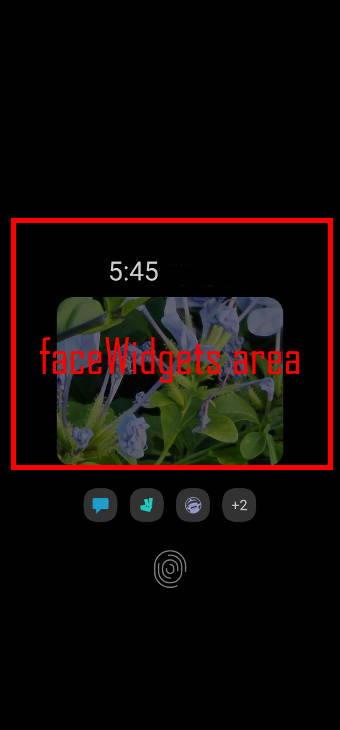 Use faceWidgets on Galaxy S20 Always-on display screen