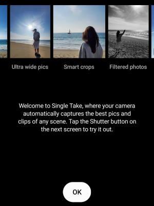 use single take camera mode