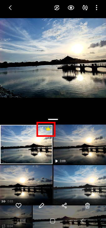 Manage, edit and delete single take photos on Galaxy S20 in Gallery app