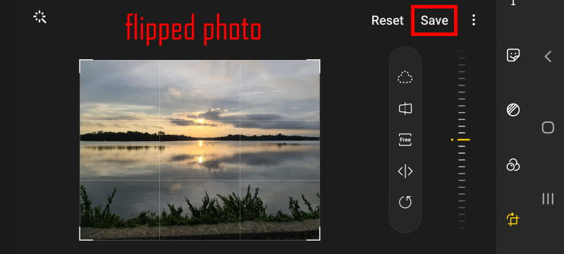 flip the mirrored photos on Galaxy S20