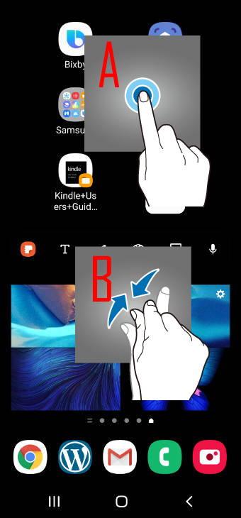 access Galaxy S20 Home screen edit mode