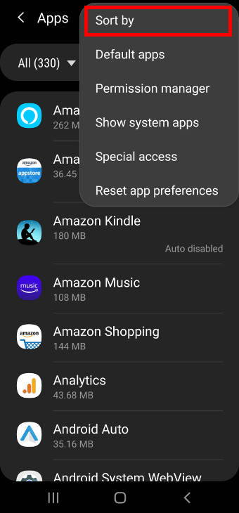 move apps to micro SD card on Galaxy S20